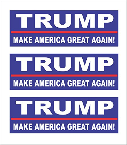 3 Trump 2020, Make America Great Again! Sticker Hard...