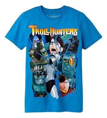 Boys Troll Hunters Short Sleeve T-Shirt (Turquoise, S 6/7)