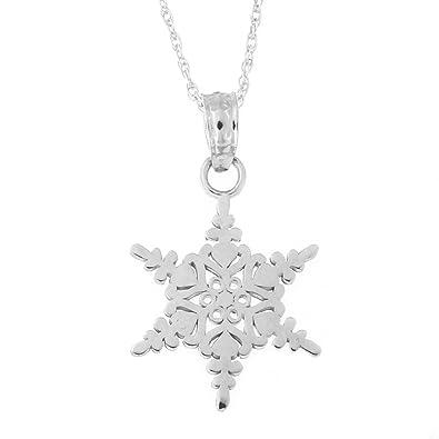 Amazon beauniq 14k white gold snowflake pendant necklace amazon beauniq 14k white gold snowflake pendant necklace pendant only jewelry aloadofball Image collections