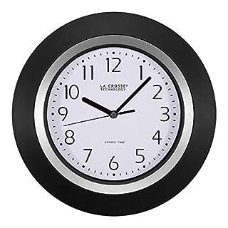 La Crosse Technology 404-1225 10-Inch Analog Atomic Black Frame Clock (B00J1XTAZ8) | Amazon price tracker / tracking, Amazon price history charts, Amazon price watches, Amazon price drop alerts