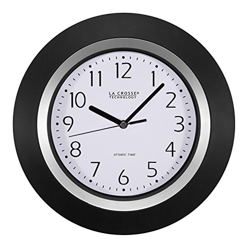 La Crosse Technology 404-1225 Analog Round Clock, 10-Inch, Black - Clock Wall Cardinals Round