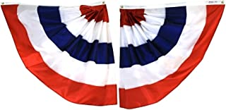 product image for Annin Flagmakers 482105 Pre-pleated Half Fans Decorators Bunting -Nyl-Glo-One Pair 3 ft. X 3 ft.