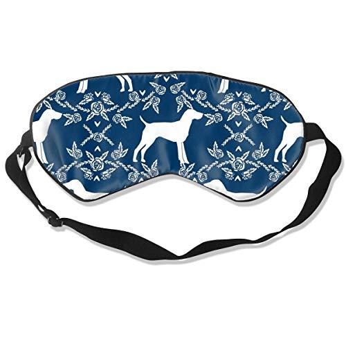 YINLAN German Shorthair Pointer Dog Sleep Eye Mask for Men Women Natural Silk Breathable Blindfold Eye Cover with Adjustable Strap Comfortable Eyeshade for Sleeping Shift Work Naps Travel ()