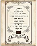 I Cannot Remember The Books I've Read - Emerson Quote - 11x14 Unframed Art Print - Great Library/Book Store Decor
