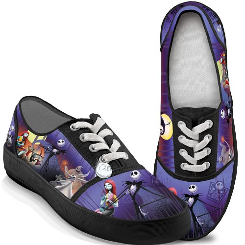 Bradford Exchange Tim Burton's The Nightmare Before Christmas Canvas Women's Shoes: 8 by The