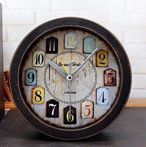 Vintage garden Despertador digital,Estudio/dormitorio/oficina ronda reloj silencio,la gente