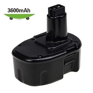 [Upgraded to 3600mAh] 14.4 Volt 3.6Ah Ni-Mh Replacement for Dewalt 14.4V XRP Battery DC9091 DW9091 DW9094 DW935 DE9038 DE9091 DE9092 Cordless Power Tools