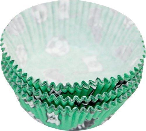 Muffinbackförmchen Fußball 50 mm, 60-teilig