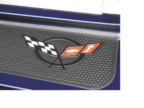 Corvette Accessories Unlimited C5 Corvette Door Sill Cross Flag Decal Red/White/Black