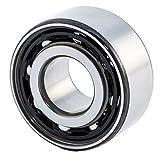 FAG Bearings 3307-BD-TVH-C3 Angular Contact Bearing, 34.9'' Height, 80'' Width, 3.12'' Length, 35 mm Bore, 80 mm OD, Polyamide, Open, 30° Contact Angle