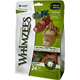 Whimzees Natural Grain Free Dental Dog Treats, Small Alligator, Bag of 24