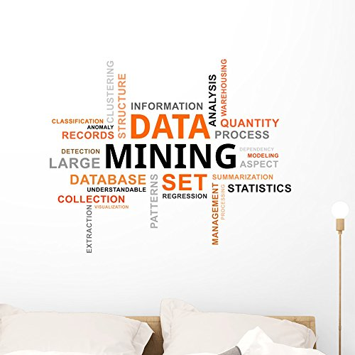 ud Data Mining Wall Decal Peel and Stick Business Graphics (36 in W x 29 in H) WM164962 ()