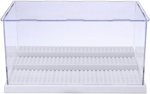 MIMIEYES Estuche de Muestra Caja de Presentación para Lego Minifigures Claro Escaparate A Prueba de Polvo 3 Pasos (Blanco): Amazon.es: Juguetes y juegos