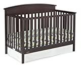 Dark Brown Crib with Changing Table Graco Benton 5-in-1 Convertible Crib Espresso