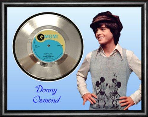Donny Osmond Puppy Love Silver Vinyl Record Framed Display