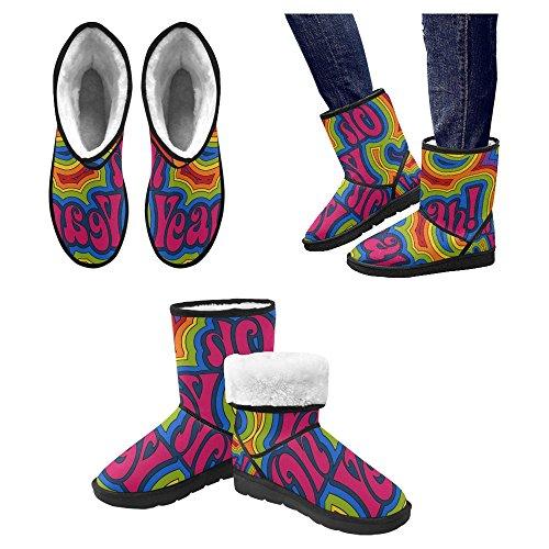 Botas De Nieve Para Mujeres Interestprint Botas De Invierno Con Diseño Único Comfort Multi 1