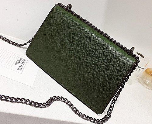 Oblique 27 Épaule Croix Sac amp;QIUMEI OME Vert Petit 10cm Sac Unique Sac Femme Chaîne Carré 16 IfOOqw80