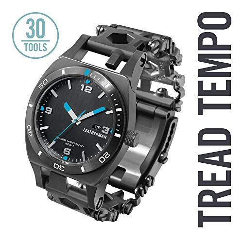 - LEATHERMAN - Tread Tempo Watch, Customizable Multitool Timepiece, Black