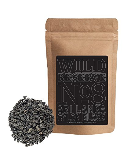 Tea Leaf Ceylon (Ceylon Black Tea #8, BOP Grade Black Tea grown in Sri Lanka, Great everyday Tea, Wild Reserve Tea by Wild Foods (4 ounce))
