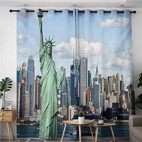 VIVIDX Kids Curtains,New York Statue of Liberty in