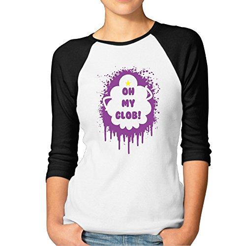 Women's Lumpy Space Princess Oh My Glob 143 3/4 Sleeve Raglan Shirt Baseball Tee