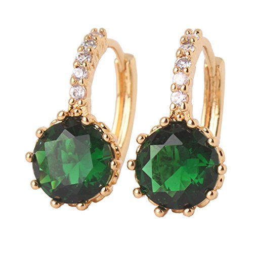 unique cubic women zirconia lady novel item fashion earing drop for stone earring brincos aaa accessories green ear earrings sunflower hollow