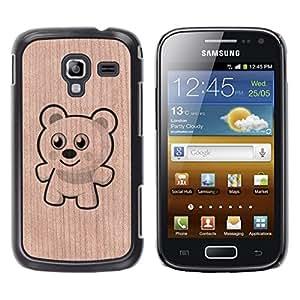 - Teddy Bear Polar Bear Cartoon Cute - - Funda Delgada Cubierta Case Cover de Madera FOR Samsung GALAXY Ace 2 I8160 BullDog Case