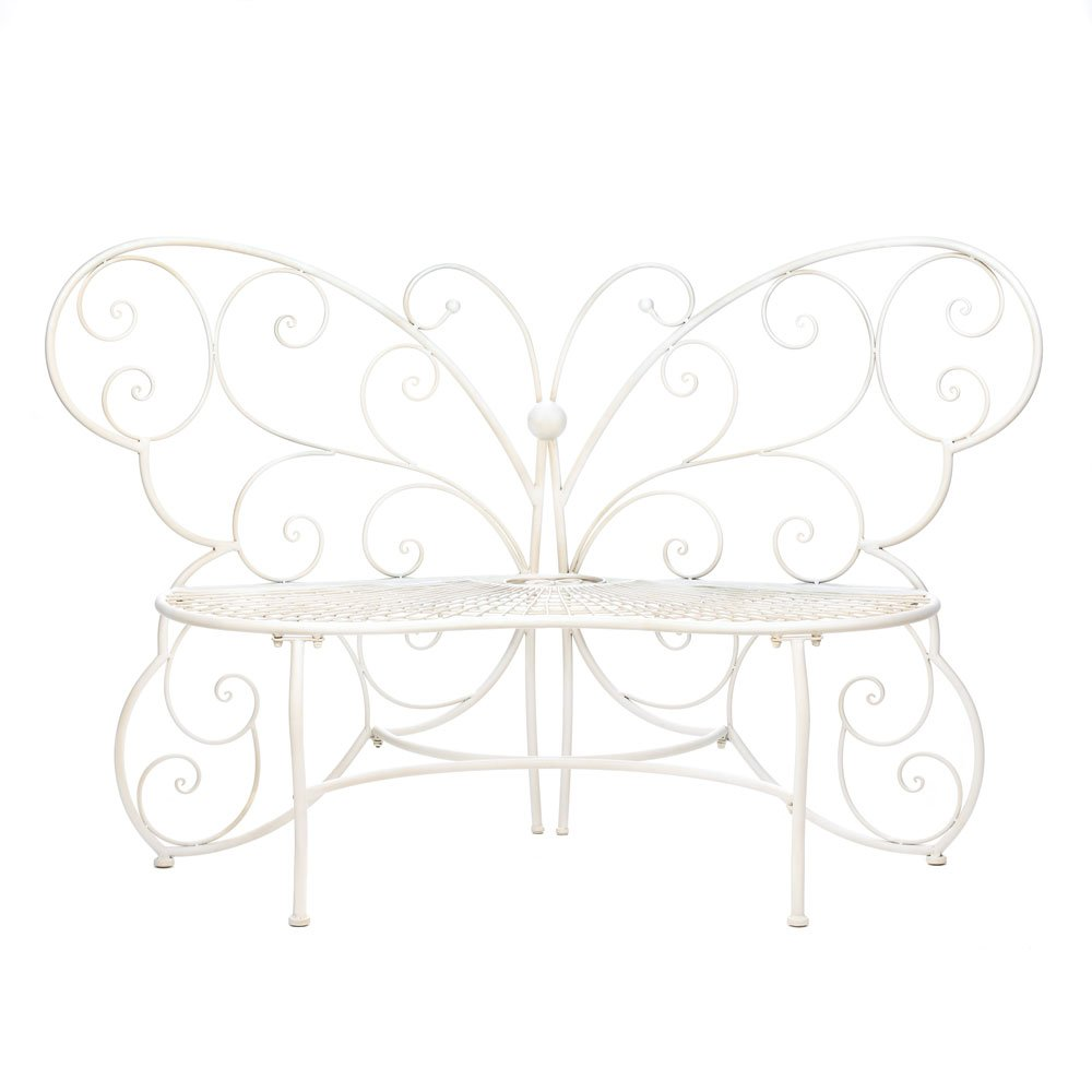 I Amazoncom  FA Decors Fancy Butterfly Metal Scroll Garden Patio Bench  Outdoor And Products U0026