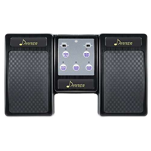 Donner Bluetooth Page Turner Pedal for Tablets Ipad Rechargeable,Black by Donner