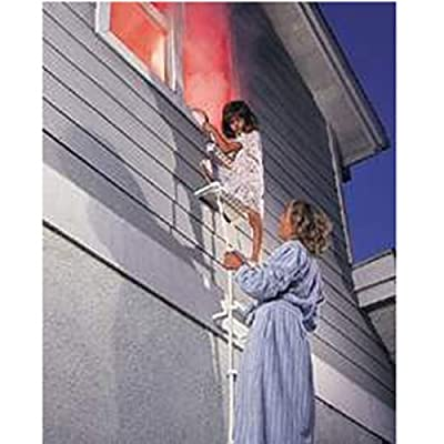 "2 Story Fire Escape Ladder, Holds Up To 600 Pounds (White) (12.5' L x 14"" W x 9"" D)"