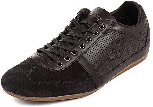 Lacoste Misano Men Fashion Sneaker Dark Brwon