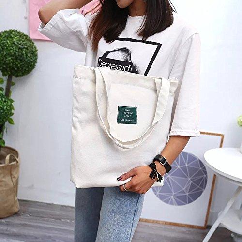 White Bag Djbhnzzz Small Bag Yellow Shopping Bag Bag Bag Art Fresh Green Wild Woman Bag Cloth Messenger wwRBIa