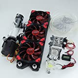 Nhowe DIY Best Liquid Cooling 360 Radiator Water Cooling Kit Pump 190mm Reservoir CPU GPU Heatsink