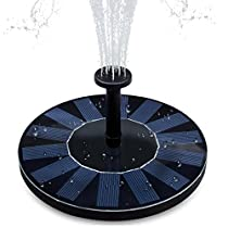 Everteco Solar Fountain Pump, Bird Bath Fountain Pump Floating PumpKit Outdoor Submersible Water Pump for Bird Bath, Pond, Pool, Fish Tank and Garden