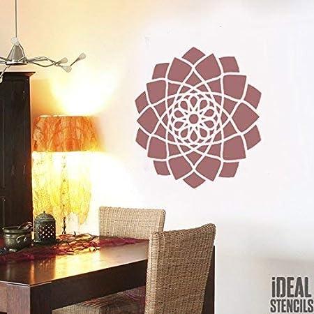 Jaipur Mandala Pochoir Bouddhiste Symbole Réutilisable