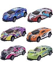 6 stuks stuntspeelgoedauto, 360° flip car toy, springende traagheidsstuntauto, legering, terugtrekken, katapult-auto-creativiteit, mini-automodellen, speelprijzen voor kinderen, jongens en meisjes