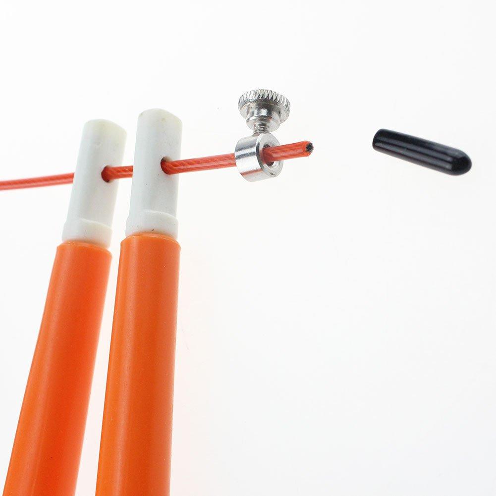 Kofull equipo de fitness cuerda de saltar de alambre de acero longitud ajustable Cuerdas de saltar de alta velocidad de 3 m cuerda de saltar cuerda de saltar crossfit