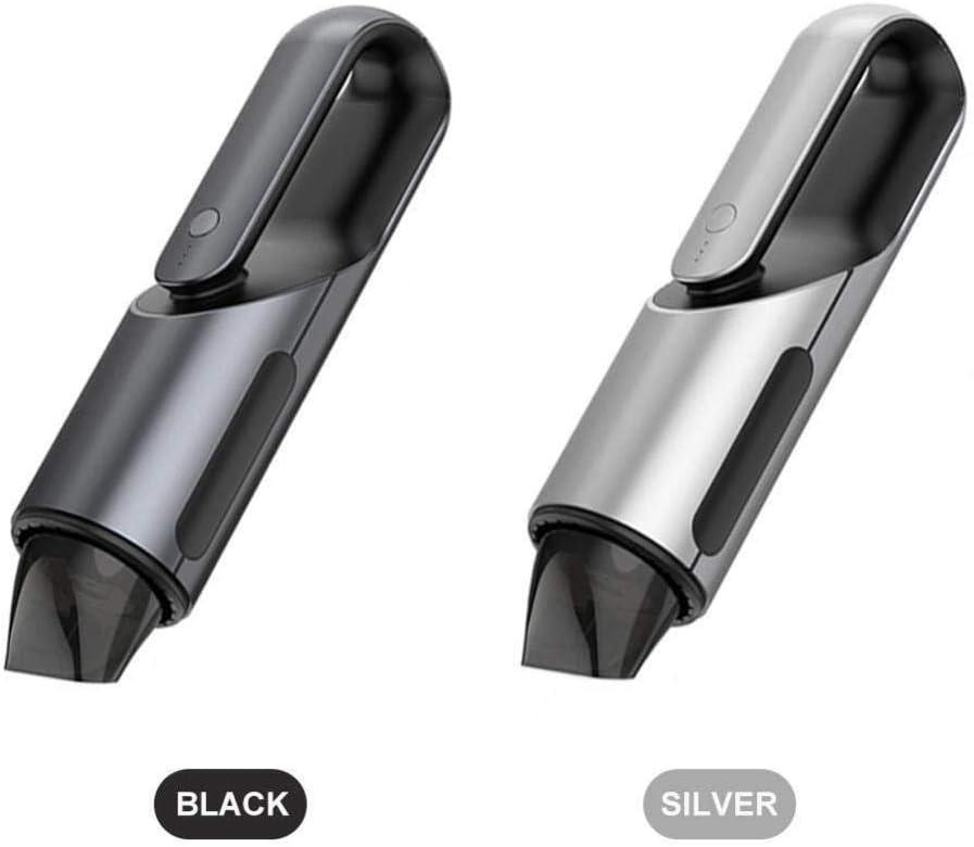 HL-TD Aspirateur De Voiture sans Fil Aspirateur De Voiture Portable Rapide De Charge Humide Sec Double Utilisation Multifonctionnel (Color : Silver) Black