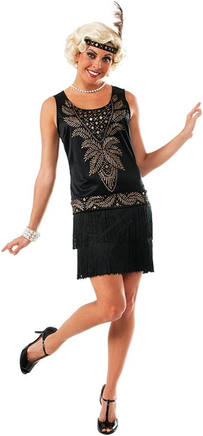 Roaring 20s Costumes- Flapper Costumes, Gangster Costumes Rubies Cocktail Flapper Adult Costume - Standard Black $26.99 AT vintagedancer.com