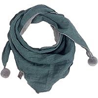 Cupcinu - Bufanda de Invierno para niños de algodón cálido Bufandas de Tres ángulos de Colores sólidos para niños, Verde…