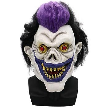 Fanfan Halloween Horror Máscara Hombres Y Mujeres Payaso Mueca Zombie Props Zombie Muerte Bar Partido Cabeza