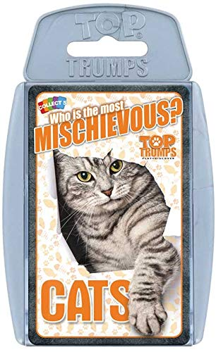 TOP Trumps - MICHIEVOUS Cats! Perfect Indoors, Travelling, Camping Holidays by Top Trumps