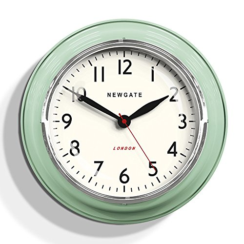 Newgate Mini Cookhouse Kettle Wall Clock Kettle Green