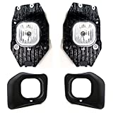 iJDMTOY Complete Set Fog Lights Foglamp Kit with Halogen Bulbs, Wiring On/Off Switch and Garnish Bezel Covers For 2011-2016 Ford F250 F350 F450 Super Duty