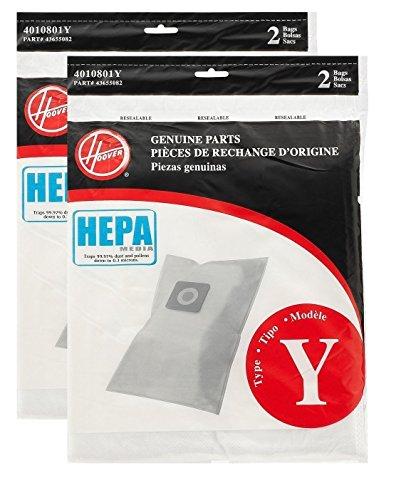 Hoover Type Y HEPA Bag (4-Pack), AH10040 ()
