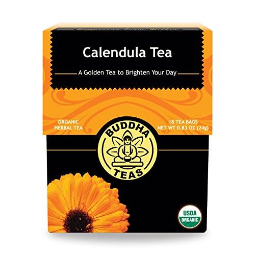 (Organic Calendula Flower Tea - Kosher, Caffeine-Free, GMO-Free - 18 Bleach-Free Tea Bags)