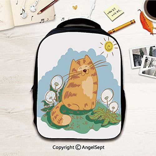 Preschool BackpackContented cat,12.2