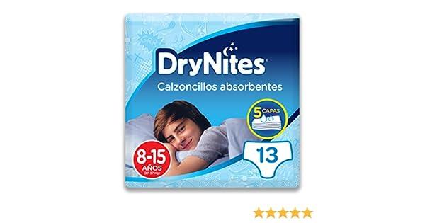 Huggies DryNites, 8 - 15 años niño, 13 pañales: Amazon.es: Salud y cuidado personal
