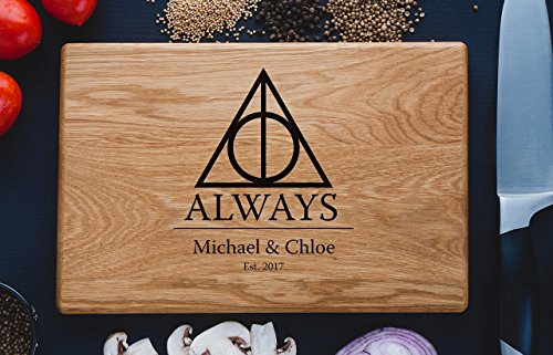 (Always Harry Potter After all this time Custom Personalized Engraved Cutting Board Wedding Gift, Anniversary Housewarming Gift Birthday Snape harry07)