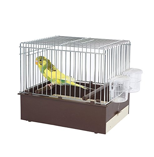 Pet Ting Brown Bird Transport Cage – Travel Cage – Finch – Canary – Budgie Ect